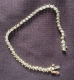 Vintage Diamond 14kt gold tennis bracelet
