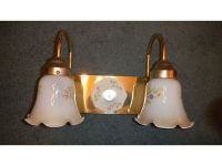 LIGHT FIXTURE, POLISHED BRASS FINISH WITH FLORAL ...