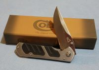 Framelock - Colt Stainless Steel Textured Black Inlay Pocket Knife CT273