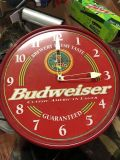 RED ELECTRIC BUDWEISER CLOCK SIGN