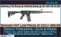 For Sale: Armalite Eagle Arms Eagle 15 AR-15 5.56 at an Amazing Low 499.99