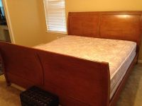 King bed wood mattresses $350