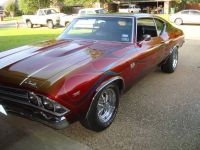 1969 CHEVROLET CHEVELLE SS 396 ENGINE 2-DOOR COUPE RED