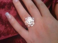 REDUCED!!!Sterling silver 925 carnation ring size 8