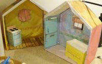 Rose Petal Cottage with changing table and stove