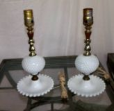 "White Hobnail Lamps $5 ""The Back Forty"", Adel"