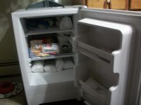 Haier 4.6 cuft. manual defrost upright freezer