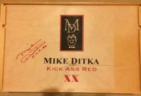 Autographed Mike Ditka wine box, authentic