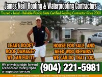 ROOFING JACKSONVILLE (904) 221-5981 ROOFING REPAIR-REPLACEMENT