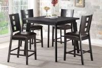 Tall Dining Room Table in Black with 4 chairs