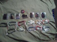 Lot of 19 Walking Dead Dog Tags, Clips, and a button
