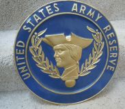 Round Army Reserve Sign
