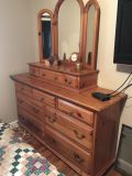 Maple Dresser from the 1970 s. Mirror box is a separate piece and can be placed anywhere or removed.