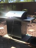Gas grill with rotisserie