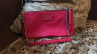 Hot Pink Kate Spade with gold chain shoulder strap