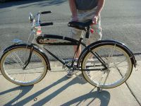 $2,000, 1936 Schwinn Deluxe 26 inch Motorbike Cycleplane Bicycle