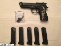 For Sale: Beretta 92 fs with 5 pre ban magazines