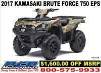 2017 Kawasaki Brute Force 750 4x4i EPS Camo Sport-Utility ATVs Sacramento, CA