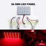 Purchase 2X RED LED DOME MAP INTERIOR LIGHT BULB SMD 36-LED PANEL XENON HID LAMP motorcycle in Cupertino, CA, US, for US $12.09