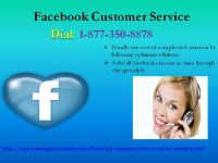 Boost your SMO cognizance with our Facebook Customer Service @ 1-877-350-8878