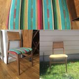 Reupholstered mid century chair