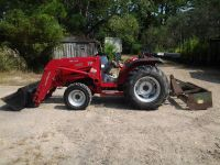 2009 TYM T400 Tractor with front end loader  grader box