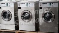 Coin Operated Maytag Front Load Washer Coin Op 25LB MFR25PCAVS 3PH Stainless Steel Used