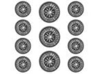 11 pc Sundial Metal Blazer Jacket Coat Button Set Antique