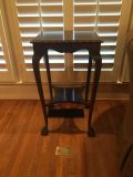 Antique walnut ball and claw side end table - plant stand