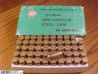For Sale: 1350 Rounds Norinco 9x18mm Non Corrosive Steel