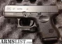 For Sale: GLOCK 27 GEN 3 , 3 MAGS, box and paperwork $435