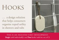 TileWare Promessa Bathroom and Shower Hooks