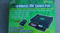 Xbox audio video wireless selector . stores up to 12 games or dvds . never used . see all pics . asking 30$ .