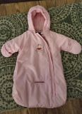 0 to 3 month Cute Pink Hooded Bunting