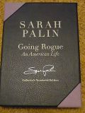 sarah palin autographed-going rogue 1st hard cover limited edition /5000 book
