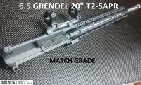 """For Sale: AR15 6.5 Grendel MATCH GRADE Billet Upper 20"""""""