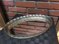Frilly metal Lacey trimmed mirror tray $5