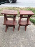 4 WOOD BENCHES