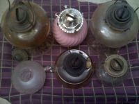 6 Oil Lamp Fonts And 5 burners