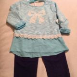 Little Girl NEW! Adorable Cute Lace and Bow Design with Lace outfit! Size 5/5t maybe a small 6