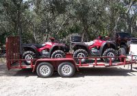 $2,250, Two ATVs 2006 Honda Rincon with Trailer