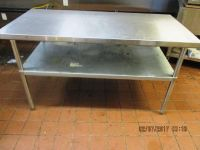 "Stainless Steel 72""x30"" Work Table RTR#6122275-09"