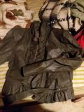 grey leather fitted dressy jacket size small junior