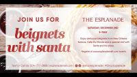 6 tickets for beignets with Santa for tomorrow Dec2!!