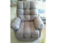 RECLINER LEATHER ROCKER, TAUPE COLOR, EC, SMOKE ...