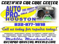 Certified MOBILE Mechanics Serving Houston Harris County TX Since 2006