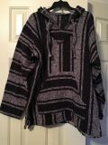 Poncho hoodie from Mexico size m/L