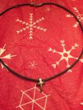 .925 cross on leather necklace