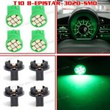 Purchase 4x 8 Epistar SMD LED Gauge Dash Instrument 12V Green Bulbs T10 194 175 Lights motorcycle in Milpitas, California, United States