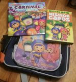 Team Umi Zoomi backpack, book, math game cards